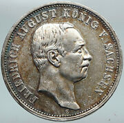 1912 Germany Empire German States Saxony Electorate Silver 3 Mark Coin I88254
