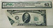10 1950a Fr 2011-g Fold-over Error Note - Pmg 63 - Choice Unc