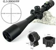 5-20x50 Ffp First Focal Plane Hunting Riflescope Side Parallax Glass Etched