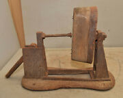 Antique Cast Iron Shoe Makers Carvers Vise Swivel Head Collectible Bench Tool