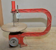 Vintage Cast Iron Jig Scroll Saw Collectible Woodworking Bench Tool 10 Throat