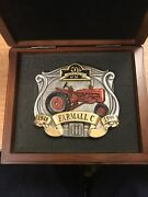 Vintage 1948-1998 50th Anniversary Ih Farmall C Belt Buckle With Case 35 Of 500