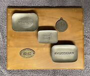 Antique Vintage Palmolive Soap Bar Molds , Employee Badge , And Key Fob