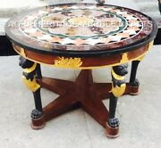 36 Marble Table Outdoor Top Mosaic Inlay Fine Work Restaurant Living Decor E749