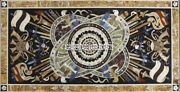Marble Dining Table Antique Inlay Musical Instrument Occasional Home Decor H4002