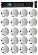 20 Jbl 3 Ceiling Speakers+6-zone Bluetooth Amplifier For Hotel/office/diner