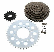 O-ring Chain And Silver Sprocket 16/40 120l Dzo Honda Magna 750 Deluxe 1995-99 Cz