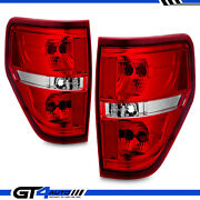 2009-2014 Crystal Red Replacement Rear Brake Tail Light Pair For Ford F150 F-150