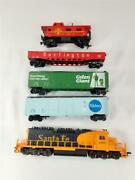 Tyco Electric Train Set With Santa Fe 5707 Tracks And More