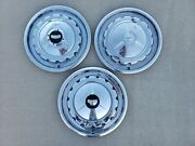Original 1957 Chevrolet Bel Air Full Hubcaps Wheelcovers Center Caps Lot 3 Chevy