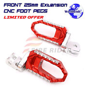 Cnc 25mm Lowering Front Large Foot Pegs For Gsx-s125 S100f S750 S1000