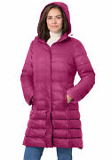 Woman Within Womenand039s Plus Size Long Packable Puffer Jacket