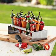 Jalapeno Grill Rack Chili Pepper Roasting And Corer Set For Barbeque Cook Tool
