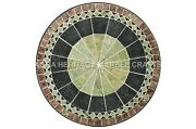 36 Mosaic Marble Stone Dining Table Top Handmade Inlay Furniture Decor H4679b
