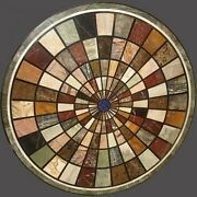 36 Marble Marquetry Round Inlaid Dining Coffee Table Top Home Christmas Decor