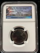 2019-w American Memorial Park Quarter Early Release Ngc Ms-65
