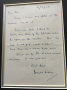 Arnold Ridley Private Godfrey Bbc Dads Army Signed Letter Ultra Rare Uacc