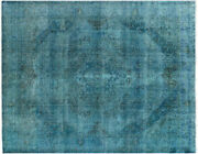 Antique Overdyed 10and039x12and039 Hand Knotted Area Rug W233
