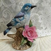 Vintage Mountain Bluebird Andrea By Sadek Figurine 9607 6 Tall Signed, Number