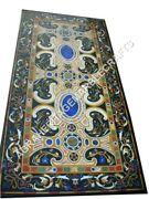 6and039x3and039 Marble Breakfast Table Top Collectible Stunning Inlay Dining Decor E490