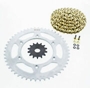 2008 2009 Ktm 505 Xc-w 505 Cz Orhg Gold X Ring Chain And Sprocket 14/50 120l
