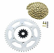 Cz Orhg Gold X Ring Chain And Silver Sprocket 14/52 120l 2010-2017 Yamaha Yz450f