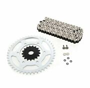 2009 - 2014 Yamaha Yzf-r1/le Yzf R1/le Cz Dzx X-ring Chain And Sprocket 17/46 120l