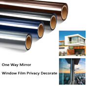 Home Tinting Static Cling One Way Mirror Window Film Privacy Reflection Heat Uv
