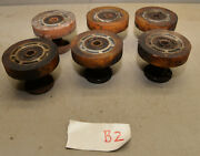 6 Used Urethane Drive Rollers Wheel And Bearing Mounting Base Tool Makers Lot B2