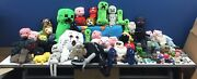 Large Lot 47 Minecraft Plush Toys And 43 Toy Figures And Accessories Bricks Chests