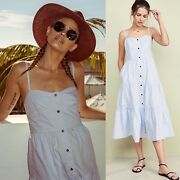Solid And Striped Light Blue Midi Sundress