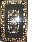 Black Marble Dining Top Table And Free Console Table Top Furniture Inlay Art Decor