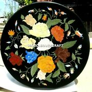 Round Marble Creative Table Top Inlaid Work And Free Ends Table Hallway Decor Arts