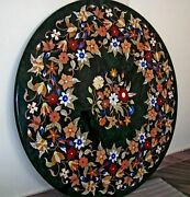 30 Marble Marquetry Side Table Top Inlaid Floral Art And Free Kitchen Plate Decor