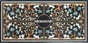 Gorgeous Design Inlay Art Marble Table Top And Free Serving Plate Of Kitchen Decor
