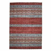 9and0393x12and0391 Khorjin Design Red Super Kazak Pure Wool Hand Knotted Rug R52242