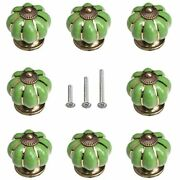 Iceyon Cabinet Ceramic Knobs Pumpkin Drawer Furniture Pull Chrome Handles With