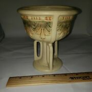 Weller Roma Tri-footed Bowl Comport Dish Old Arts And Crafts Pottery Vase