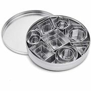 24 Pcs Mini Cookie Cutter Set, Stainless Steel Biscuit With Geometric Shapes For