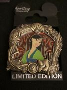 Wdi Walt Disney Imagineering Mulan Stained Glass Authentic Princess Pin Le 300