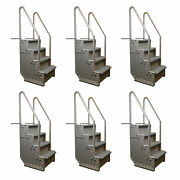 Confer Step-1 Above Ground Pool Ladder Heavy Duty Step System Entry 6 Pack