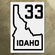 Idaho State Route 33 Highway Marker Road Sign 1926 Map
