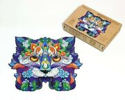Wooden Jigsaw Puzzles Unique Animal Jigsaw Pieces Gift For Adults And Kid W Cat Xl