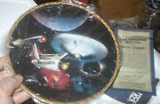 Star Trek Tos Ncc-1701 Enterprise Collector Plate From Hamilton, With Cota