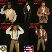 Redman Toys 1/6 Cowboy Head And Suit Set 12and039and039 Good Bad Ugly Male Action Figure