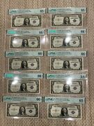 10 Consecutive Fr1618 1935h Silver Certificate Pmg 6 66 3 65 1 58 All Epq