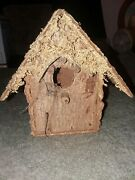 """Large Wooden Bird House Ornament-5"""" Tall - Sweet"""