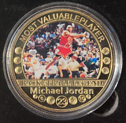 Michael Jordan Mvp Colourized And Gold Plated The Shot Encapsulated
