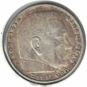 1939 D Germany 5 Reichmark Doble Die D
