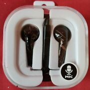 Earbuds Black Color With Mic, Cord, Audio Jack Stereo, 3 Years And Older.